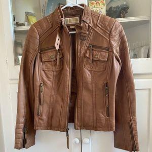 Michael Kors Leather Moro Jacket